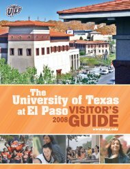 Visitor's Guide 2008 - University of Texas at El Paso