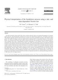 and state-dependent friction law - Istituto Nazionale di Geofisica e ...