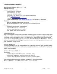 CAP ENG 101 ENGLISH COMPOSITION - Clinton Community College
