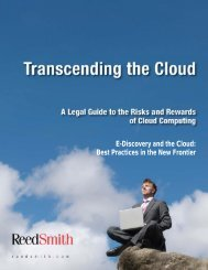 E-Discovery and the Cloud: Best Practices in the New ... - Reed Smith
