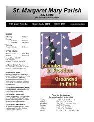 July 1, 2012 - Saint Margaret Mary Parish