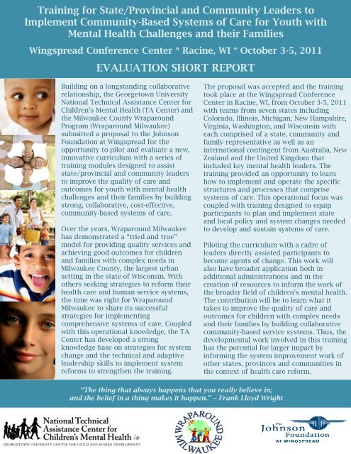 evaluation short report - National Technical Assistance Center for ...