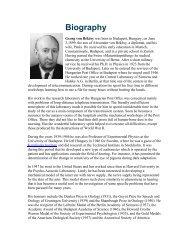 von Bekesy Biography..
