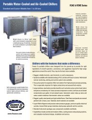Portable Water-Cooled and Air-Cooled Chillers