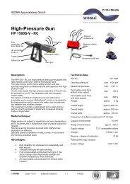 High-Pressure Gun HP 1500S-V - RC - Woma