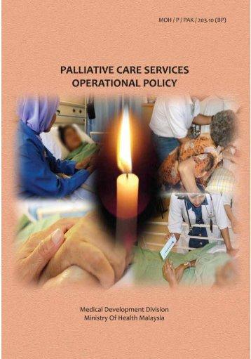 Palliative Care Services Operational Policy - Kementerian Kesihatan ...