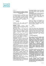 Všeobecné poistné podmienky - VÚB banka