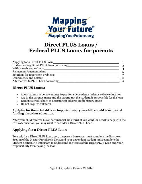 Parent Student Loans >> Direct Plus Loans Federal Plus Loans For Parents Guide