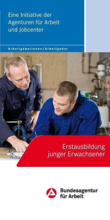 """Flyer """"Erstausbildung junger Erwachsener"""" - Bundesagentur für Arbeit"""