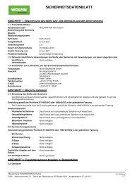 SICHERHEITSDATENBLATT - WOLFIN Bautechnik