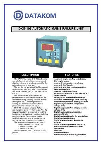 dkg-105 automatic mains failure unit description