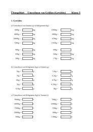 Übungsblatt Umrechnen von Größen (Gewichte) Klasse 5