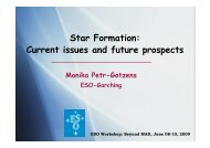 Star Formation: Current issues and future prospects - ESO