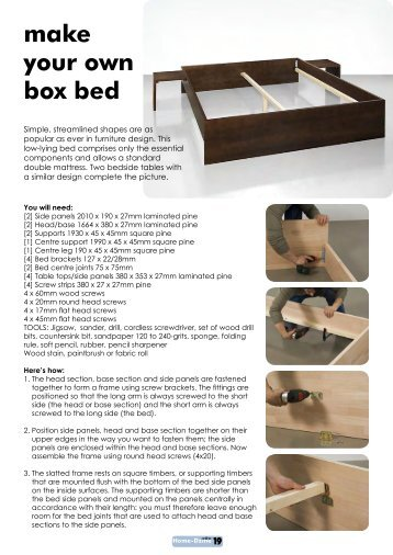 make your own box bed - Home-Dzine