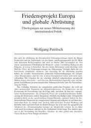 Friedensprojekt Europa und globale Abrüstung - Wolfgang Petritsch