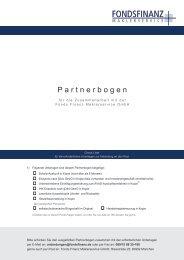 Partnerbogen - Fonds Finanz Maklerservice GmbH