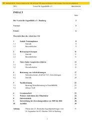 Jahresbericht 2001 - Verein für Jugendhilfe eV