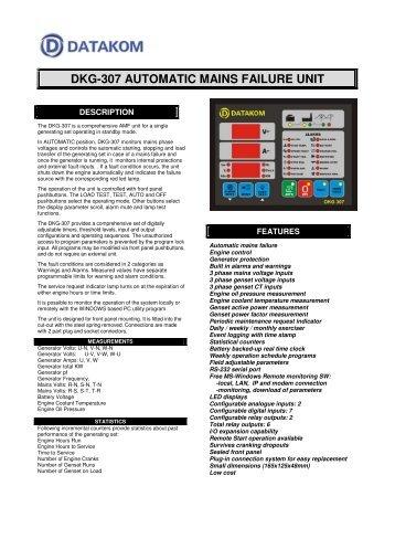 DKG-307 AUTOMATIC MAINS FAILURE UNIT