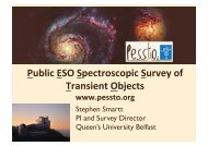Public ESO Spectroscopic Survey of Transient Objects www.pessto ...