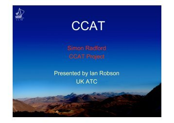 alma surveys-ccat - ESO