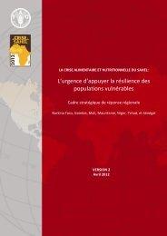 Programme régional Sahel - FAO - Food Security Clusters