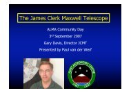 The James Clerk Maxwell Telescope - ESO