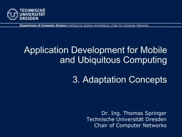 3. Adaptation - Faculty of Computer Science - Technische ...