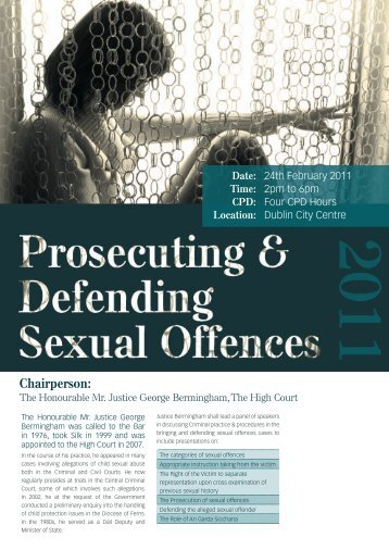 Prosecuting & Defending Sexual Offences - Law Library