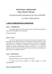 télécharger nos Statuts (format pdf) - Cluny, chemins d'Europe