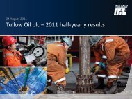 Tullow Oil Half-yearly results 2011 presentation PDF - Tullow Oil plc