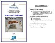 STREET CUTS MANUAL