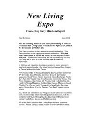 New Living Expo Connecting Body Mind and Spirit
