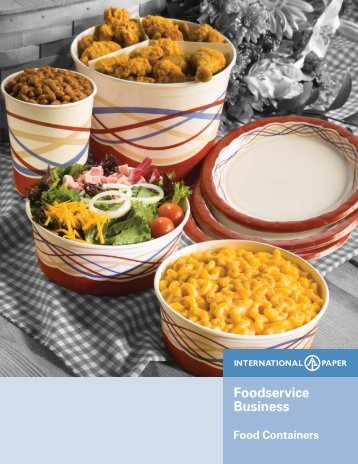 Food Containers Sell Sheet - International Paper