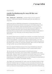 Press release - Ruwido