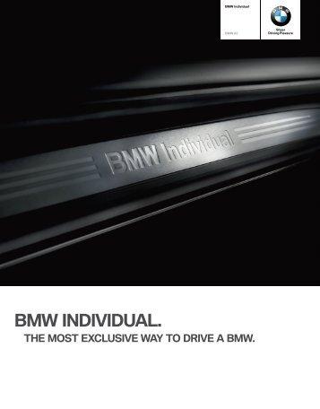 BMW Individual catalogue (PDF, 4.56 MB) - BMW Asia