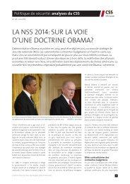 la nss 2014: sur la voie d'une doctrine obama? - Center for Security ...