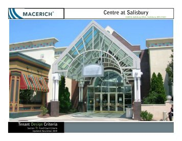 Center at Salisbury Food Court Criteria - Macerich