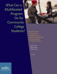 What can a multifaceted Program do for community college students?