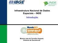 Introdução Infraestrutura Nacional de Dados Espaciais – INDE
