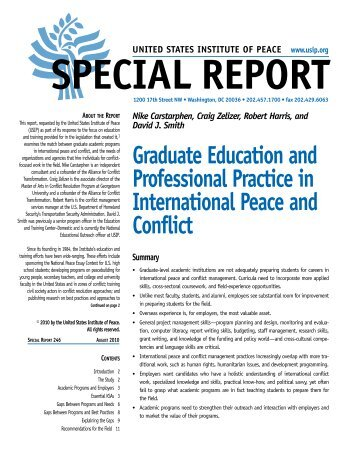 Graduate Education and Professional Practice in International ...