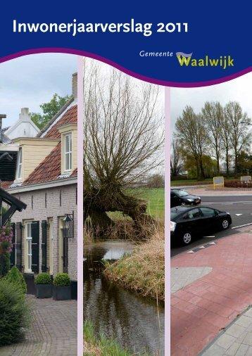 Inwonerjaarverslag 2011 - Gemeente Waalwijk