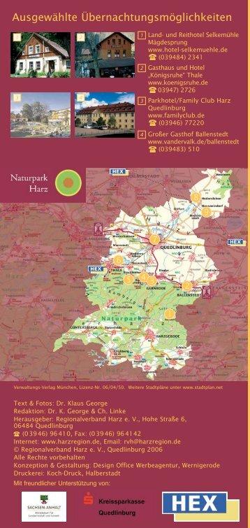 Zwischen Burg Anhalt und Quedlinburg - Regionalverband Harz e.V.