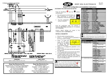 DEEP SEA ELECTRONICS Model 5110 Configuration and ...