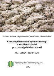 Význam půdoochranných technologií v rostlinné ... - VÚRV, v.v.i.