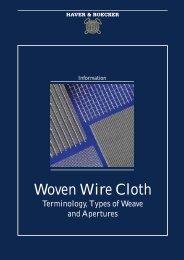 Woven Wire Cloth - Haver & Boecker