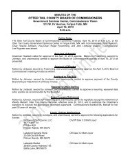 Board of Commissioners Meeting Minutes 4/16 ... - Otter Tail County