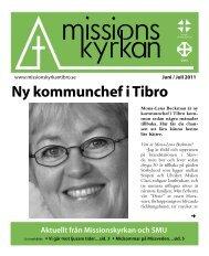 Ny kommunchef i Tibro Aktuellt från Missionskyrkan och SMU