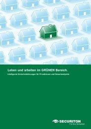 Leben und arbeiten im GRÜNeN Bereich. - Securiton GmbH