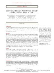 Early versus Standard Antiretroviral Therapy for HIV-Infected Adults ...
