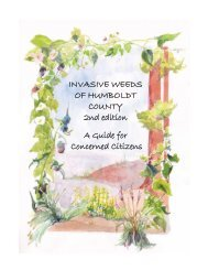 Invasive Weeds of Humboldt County - Northcoast Chapter of CNPS